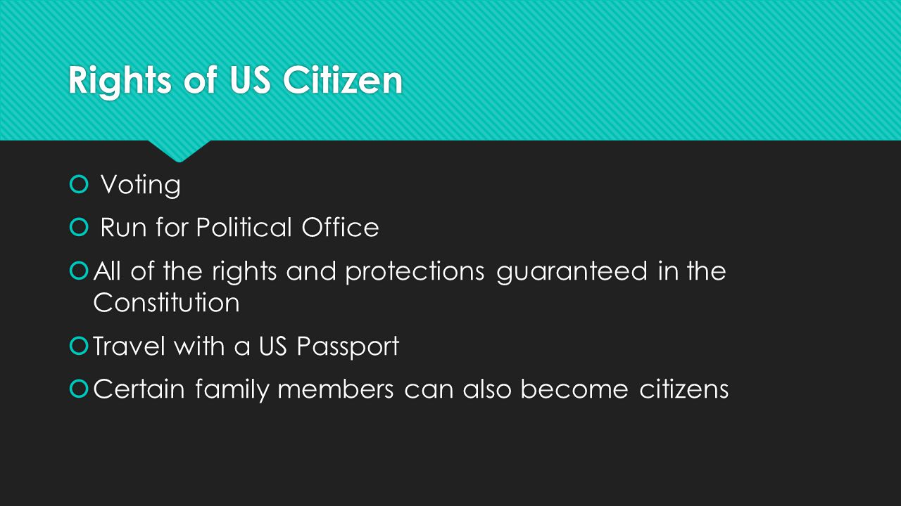 Applying for Citizenship: Requirements  Must be a Green card holder and permanent resident for 5 years  18 years or older  Able to read, write, and