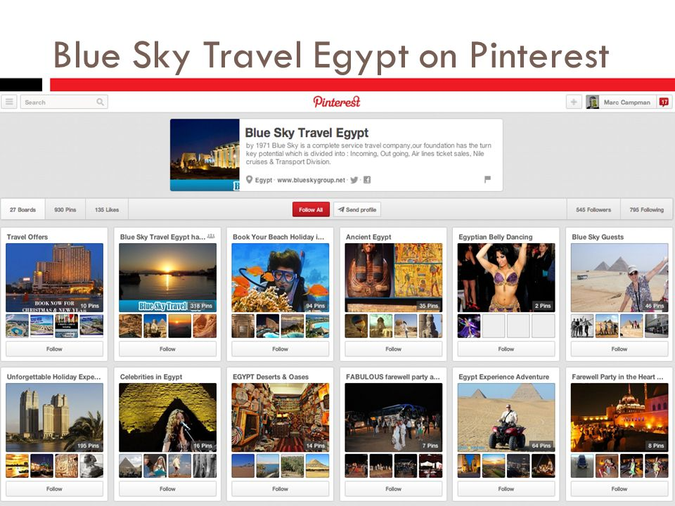 Blue Sky Travel Egypt on Pinterest