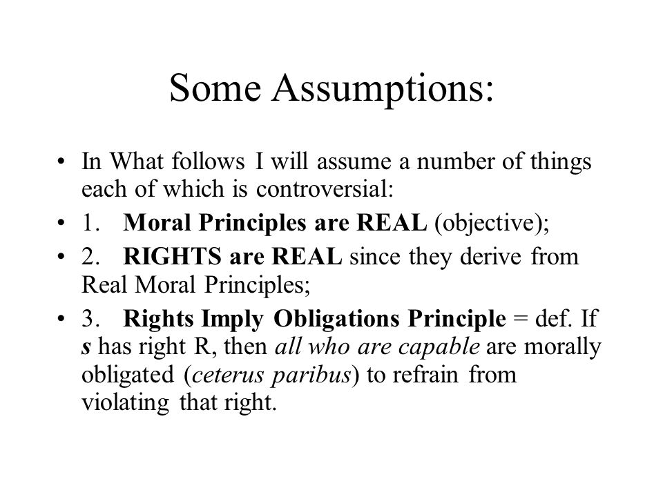 Interest Theory of Rights If s has right R, then s is capable of having an interest I in that to which R pertains.