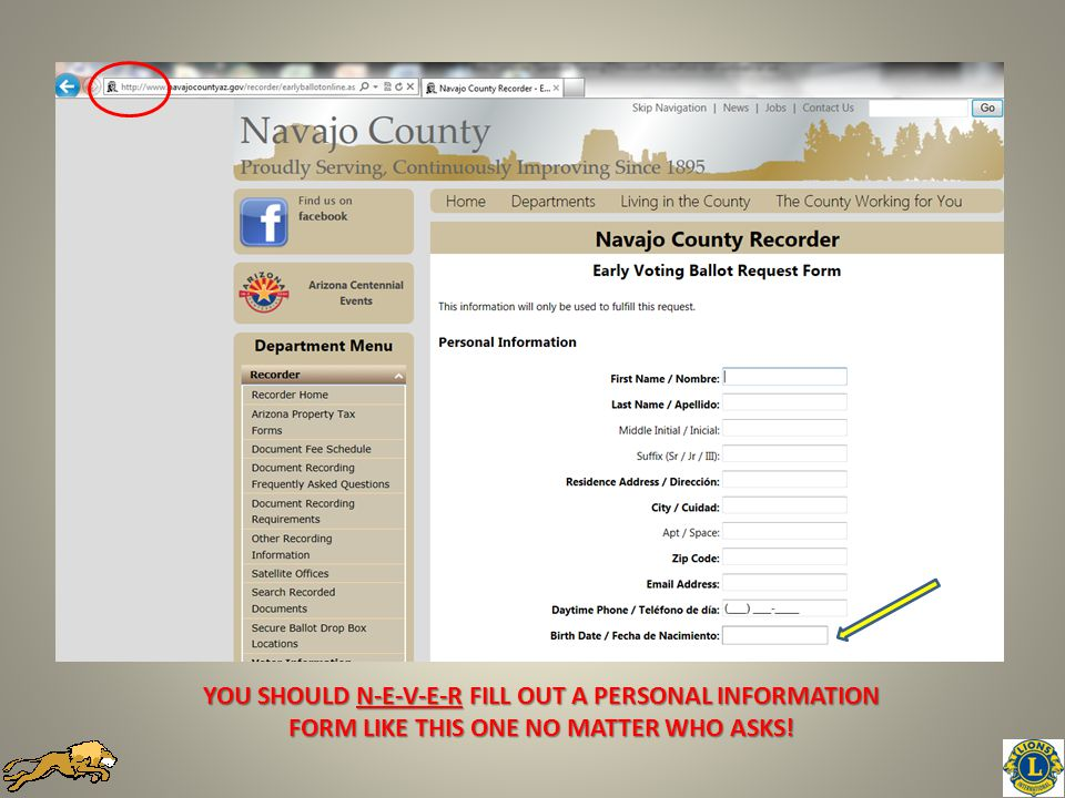 YOU SHOULD N-E-V-E-R FILL OUT A PERSONAL INFORMATION FORM LIKE THIS ONE NO MATTER WHO ASKS!