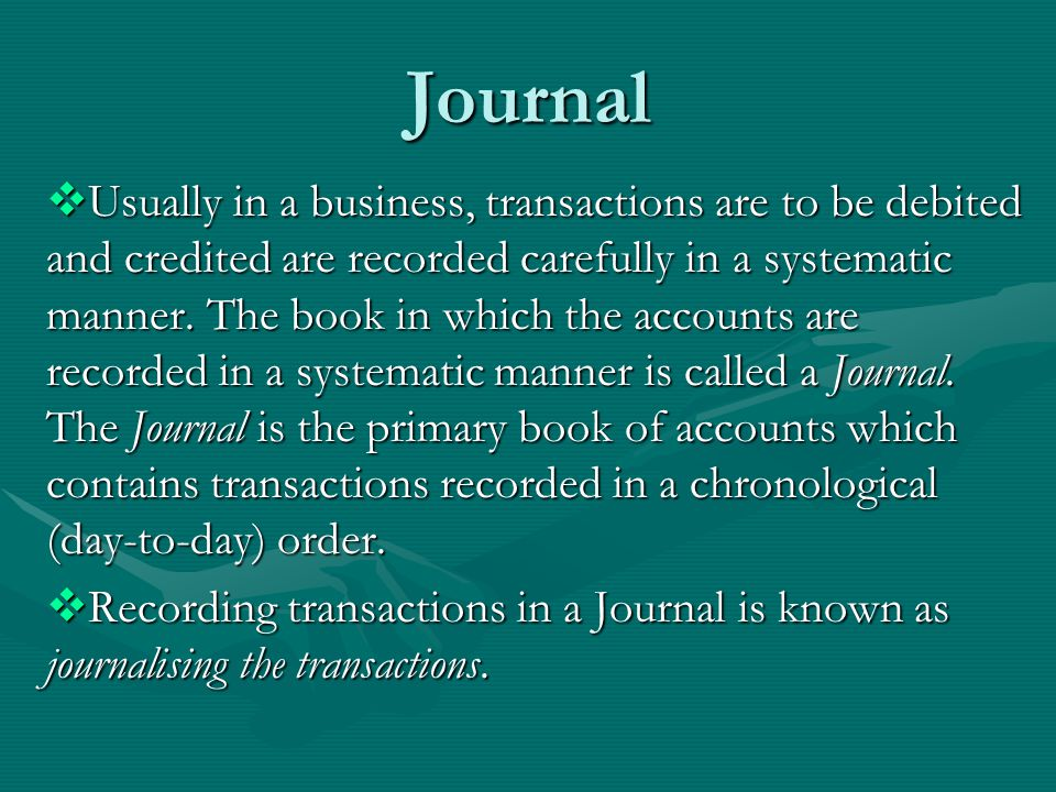 Format of a Journal DateParticularsL.FDebit (Rs)Credit (Rs)