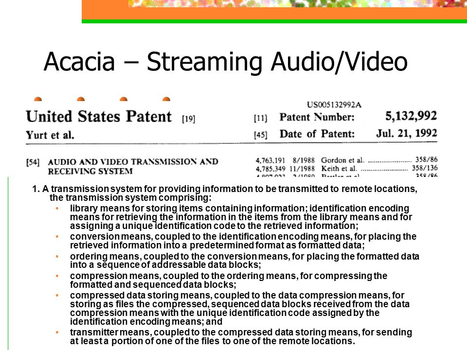 Acacia – Streaming Audio/Video 1.
