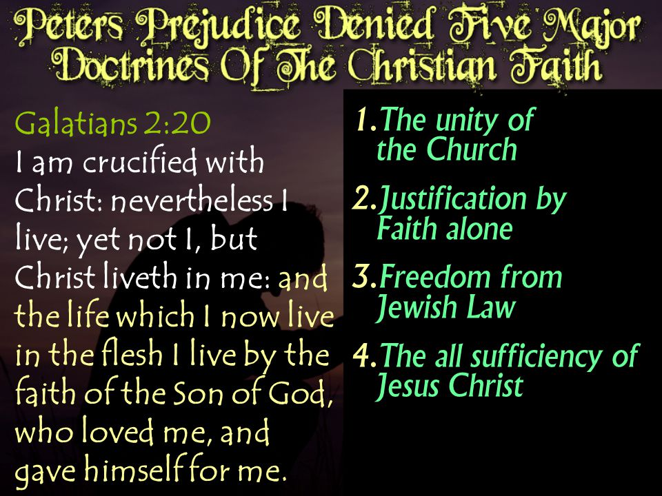 Galatians 2:20 I am crucified with Christ: nevertheless I live; yet not I, but Christ liveth in me: and the life which I now live in the flesh I live