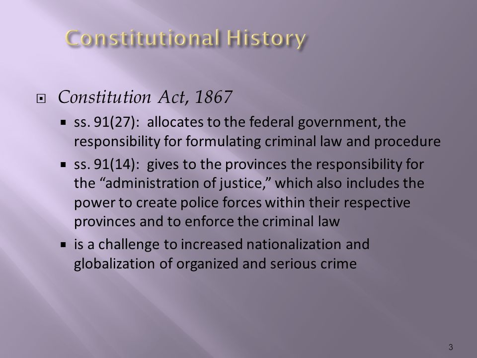  Constitution Act, 1867  ss.