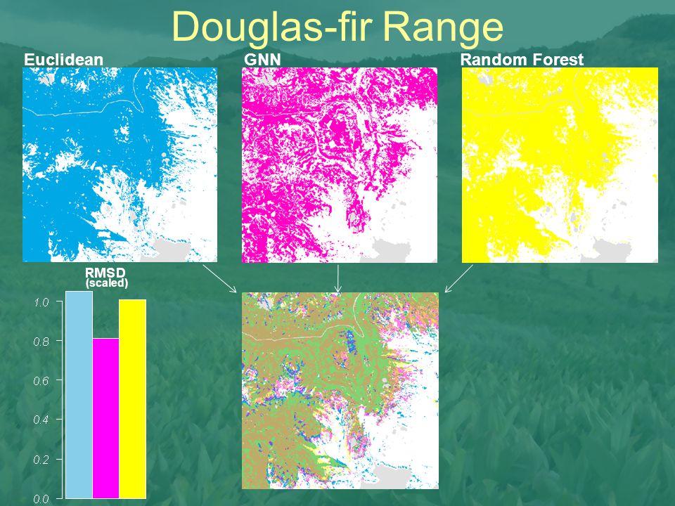 Douglas-fir Range Euclidean GNN Random Forest (scaled)