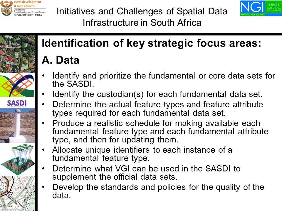 Identification of key strategic focus areas: A.