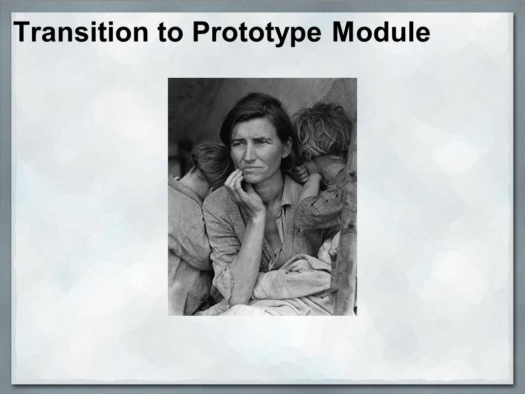 Transition to Prototype Module