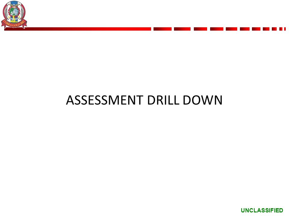 UNCLASSIFIED ASSESSMENT DRILL DOWN