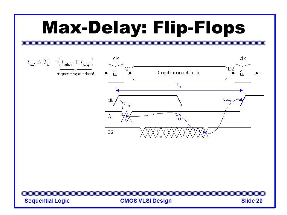 CMOS VLSI DesignSequential LogicSlide 29 Max-Delay: Flip-Flops