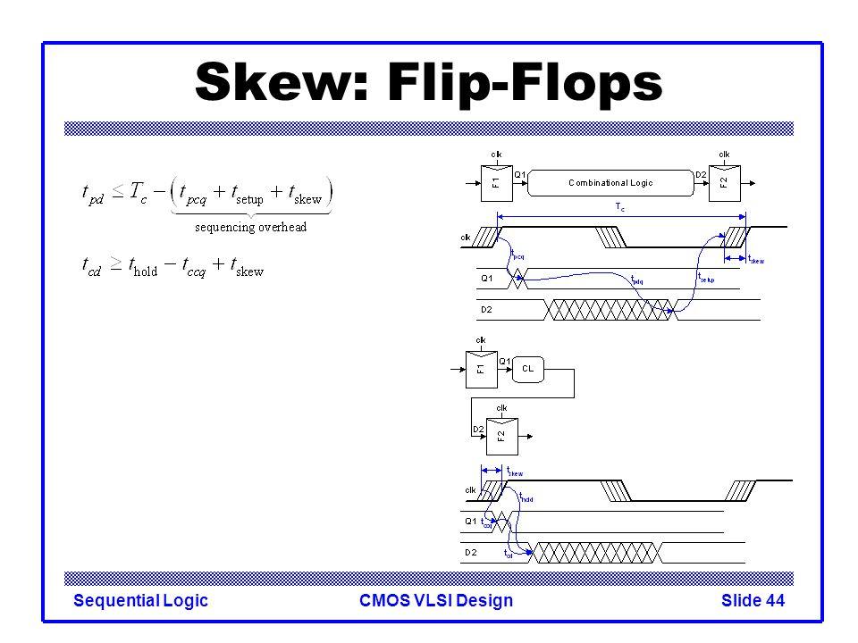 CMOS VLSI DesignSequential LogicSlide 44 Skew: Flip-Flops