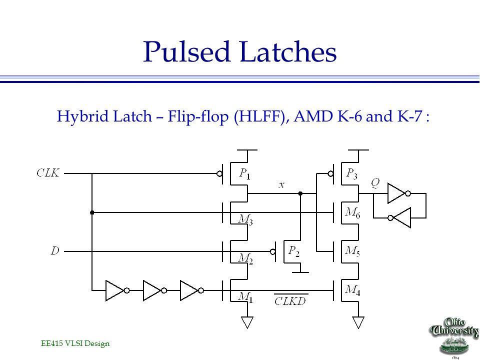 EE415 VLSI Design Pulsed Latches Hybrid Latch – Flip-flop (HLFF), AMD K-6 and K-7 :