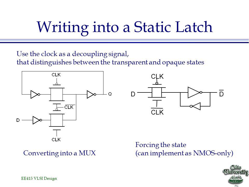 EE415 VLSI Design Latch-Based Pipeline