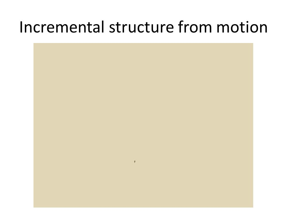 Incremental structure from motion