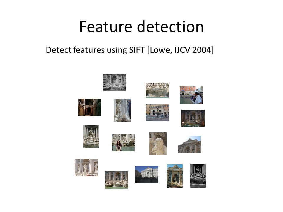Feature detection Detect features using SIFT [Lowe, IJCV 2004]
