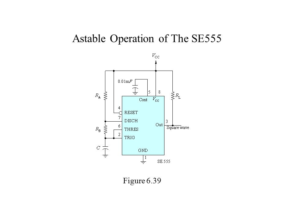 Astable Operation of The SE555 Figure 6.39