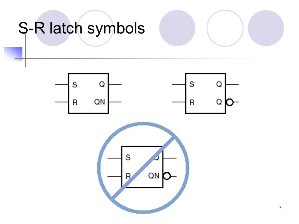 7 S-R latch symbols