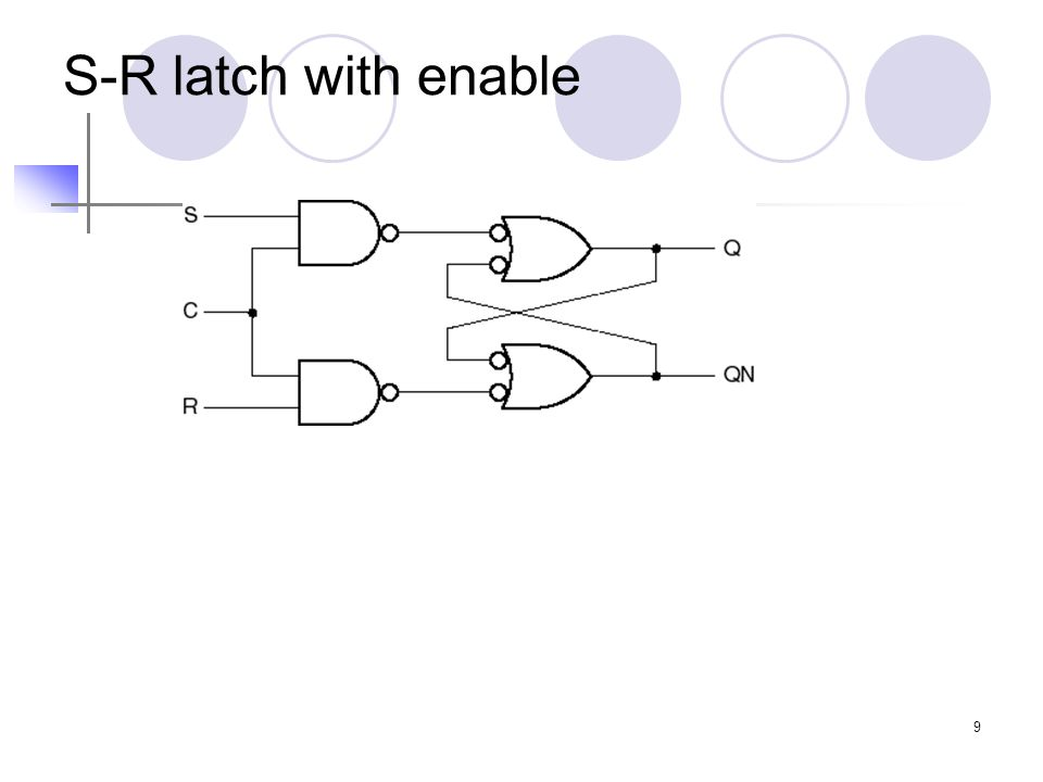 9 S-R latch with enable