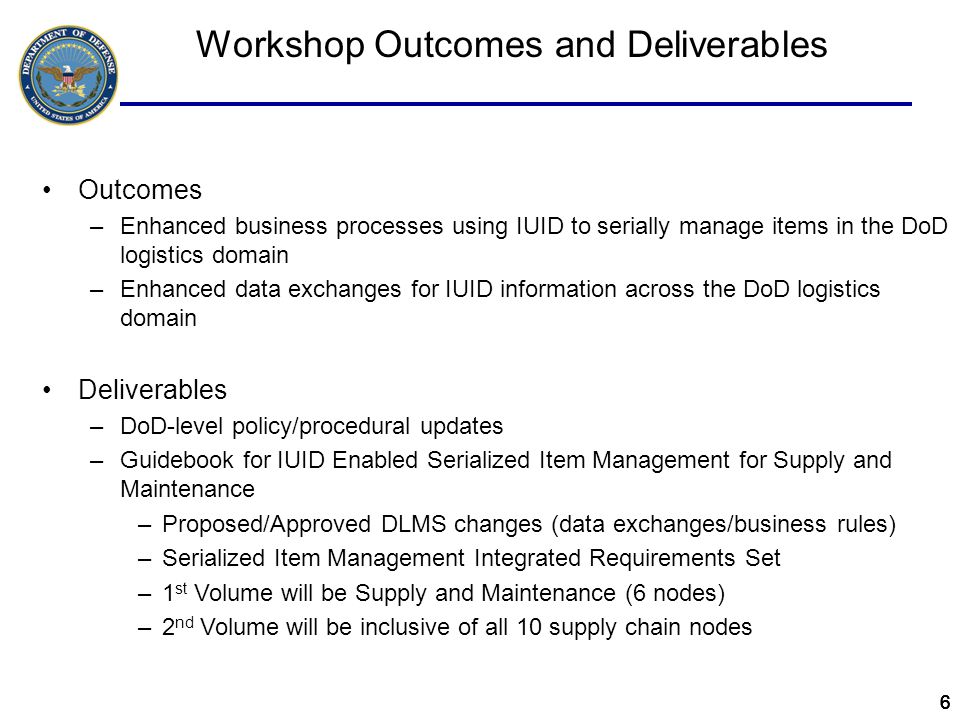 777 Definition of Serialized Item Management By UII SIM by UII: Management and tracking of a select population of items that have a unique item level traceability requirement –Unique item level traceability is defined as the requirement to trace lifecycle management events related to acquisition, property accountability, storage, operation, maintenance, safety, physical security, retirement, and disposal by each individual item – Individual item is defined as a single instance of a stock-numbered item or a single assembly/subassembly –The need for unique item level traceability requirement is determined by the manager of the item (materiel manager for consumables and PICA for reparables) –Existence of a manufacturer's serial number does not constitute a requirement for SIM…must meet at least one of the following:  DoD serially-managed sensitive, DoD serially-managed critical safety, and/or DoD serially- managed pilferable items  All depot-level reparable items  Any items that the materiel manager or program manager decides require unique item level traceability In scope…secondary inventory governed by DoD 4140.1-R