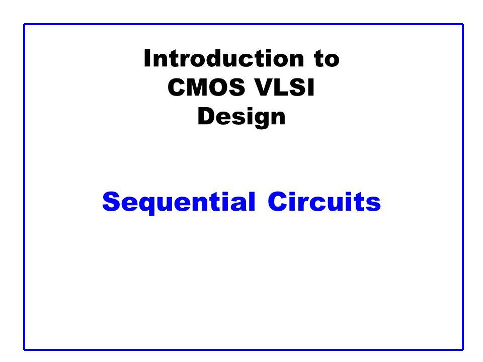 CMOS VLSI Design32 Max Delay: 2-Phase Latches assume that t pdq1 = t pdq2 propagation delay D1 to Q1, D2 to Q2