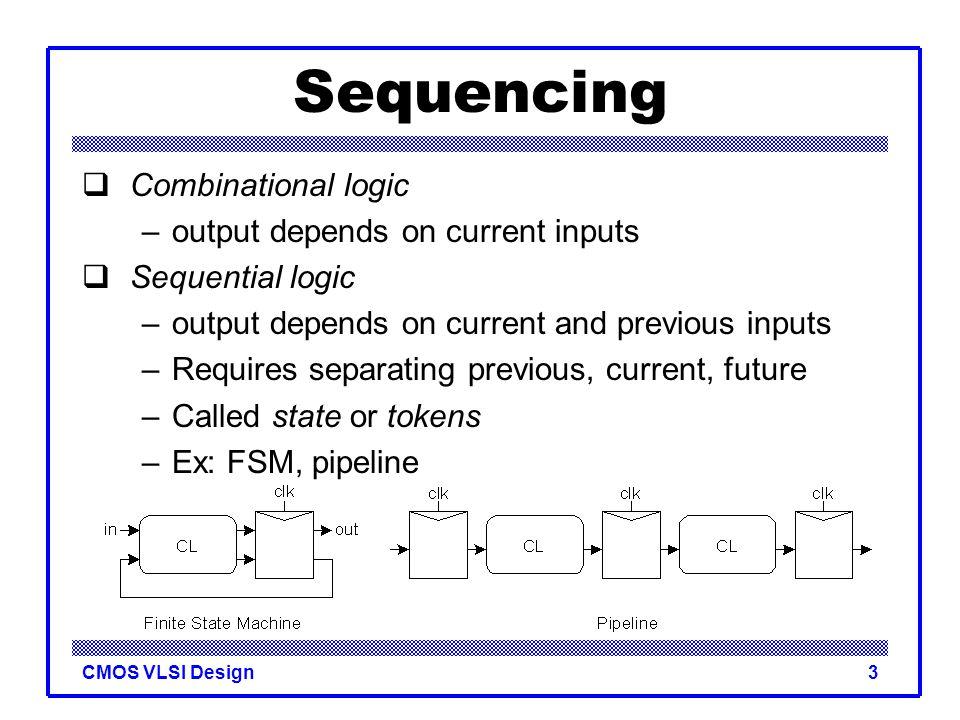 CMOS VLSI Design24 Reset  Force output low when reset asserted  Synchronous vs. asynchronous