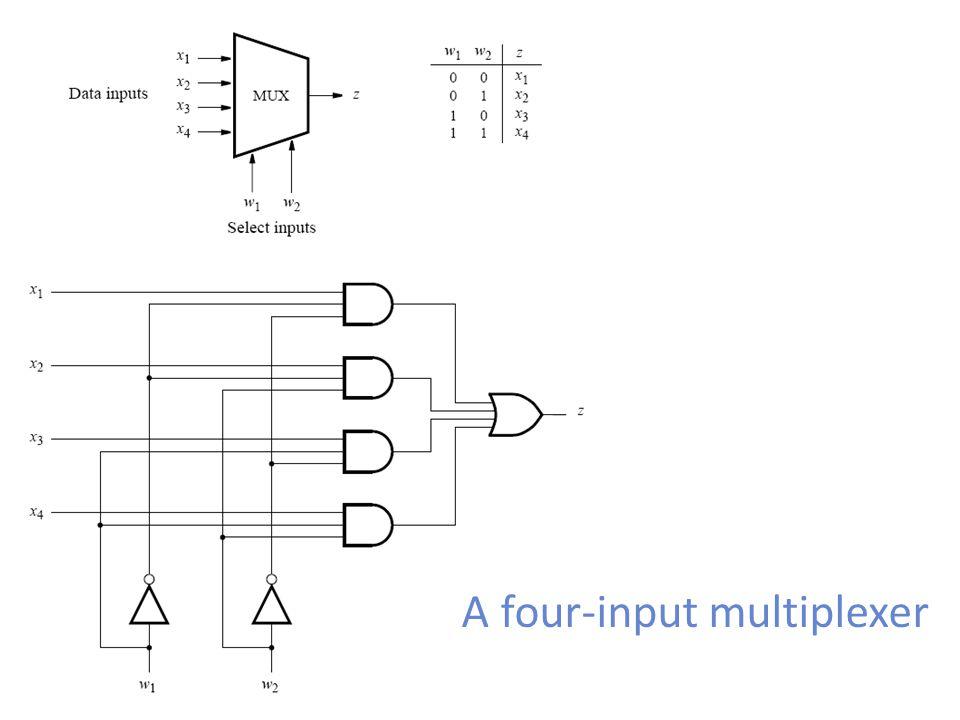 A four-input multiplexer