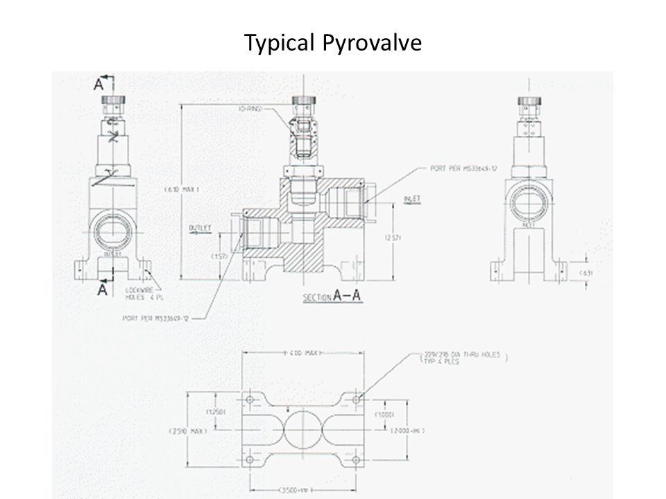 Typical Pyrovalve