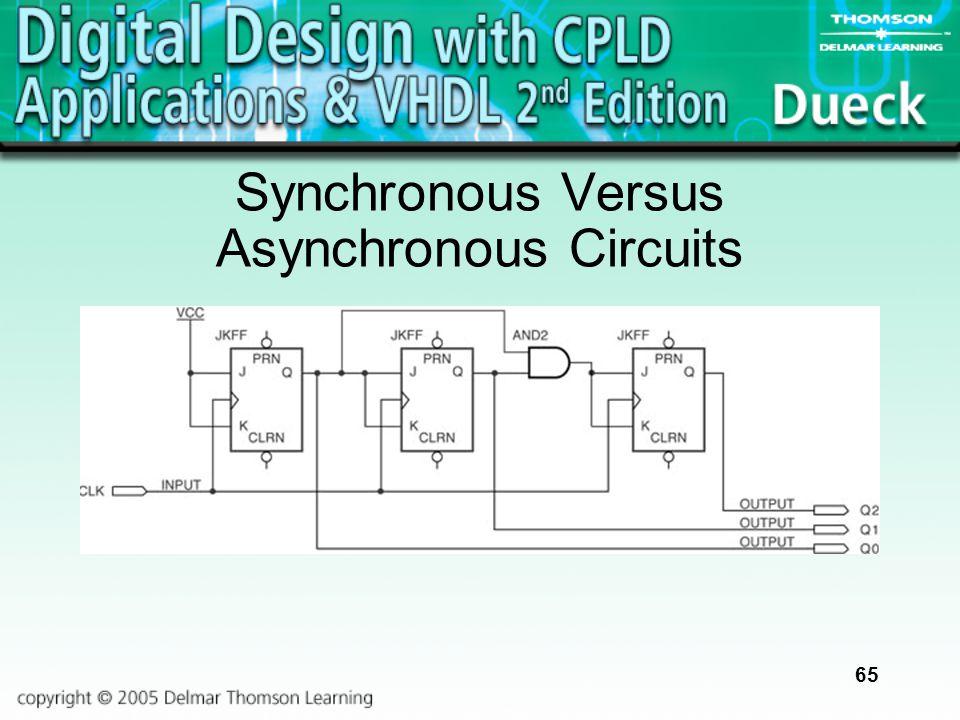 65 Synchronous Versus Asynchronous Circuits