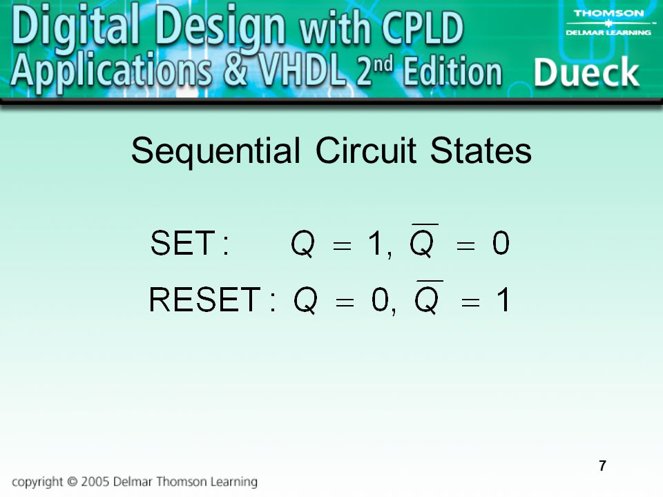 7 Sequential Circuit States