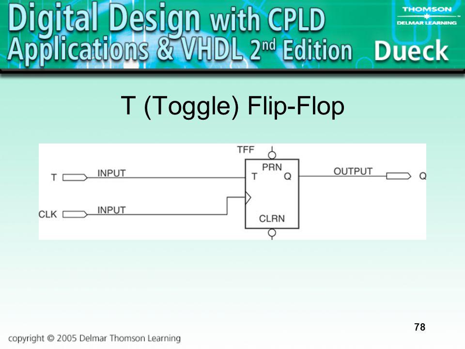 78 T (Toggle) Flip-Flop
