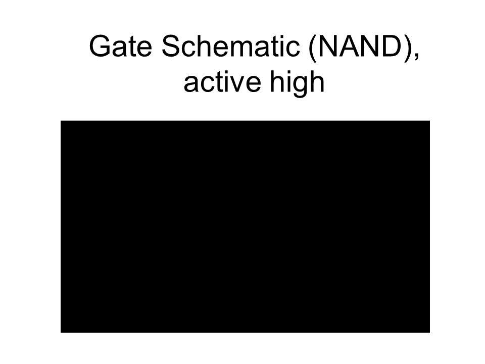 Gate Schematic (NAND), active high