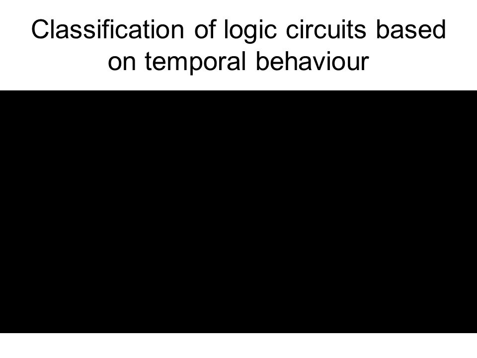 Classification of logic circuits based on temporal behaviour