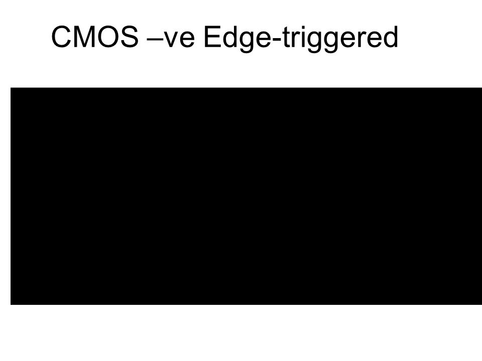 CMOS –ve Edge-triggered
