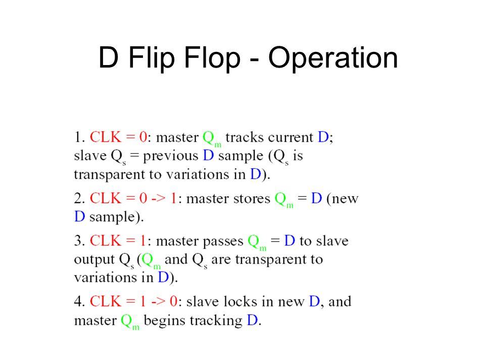 D Flip Flop - Operation