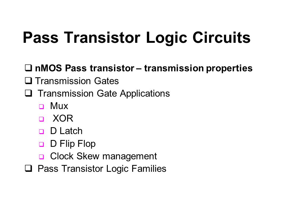nMOS Pass Transistor – Logic '1' Transfer