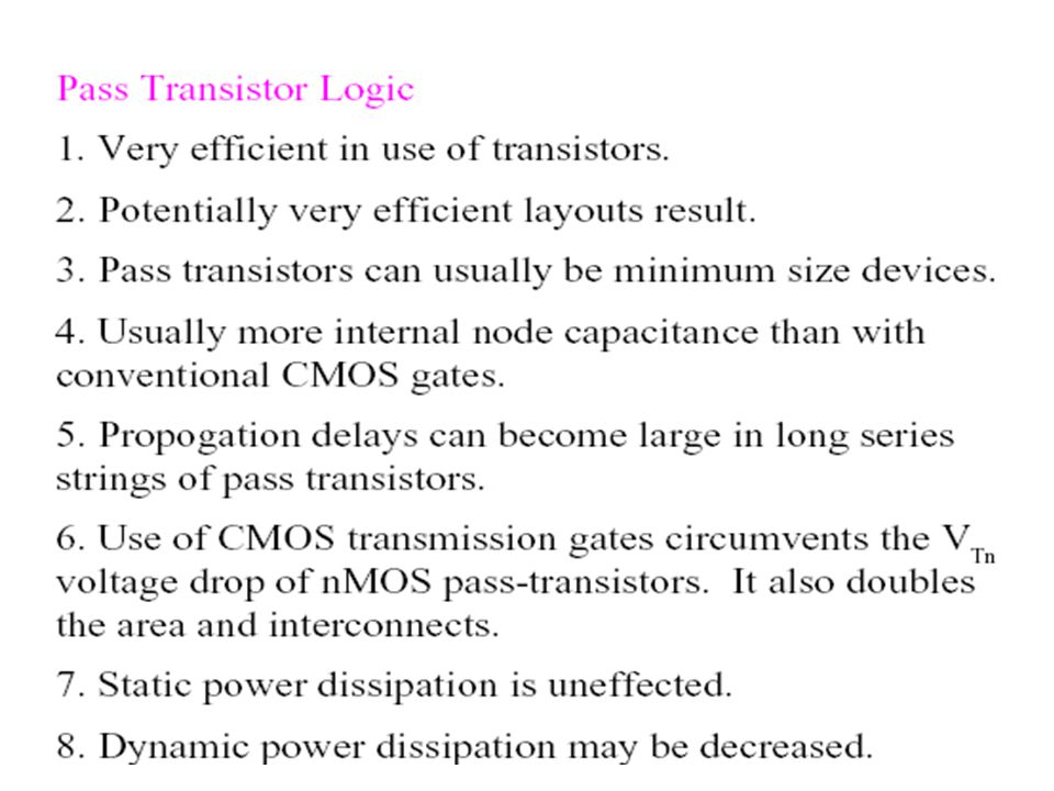 PASS TRANSISTORS IN SERIES
