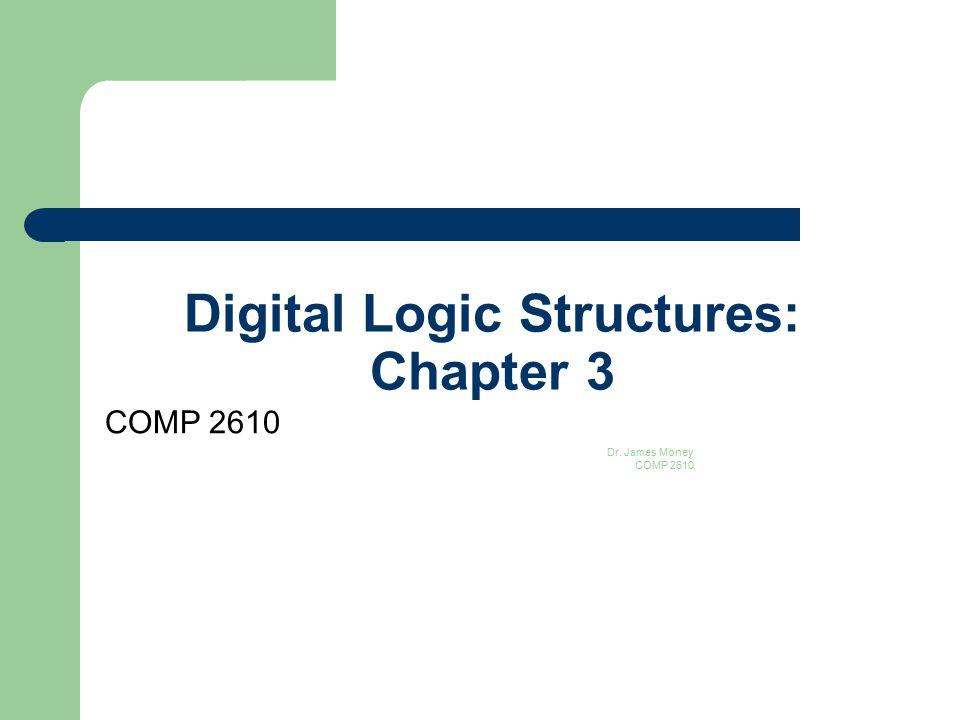Digital Logic Structures: Chapter 3 COMP 2610 Dr. James Money COMP 2610 1