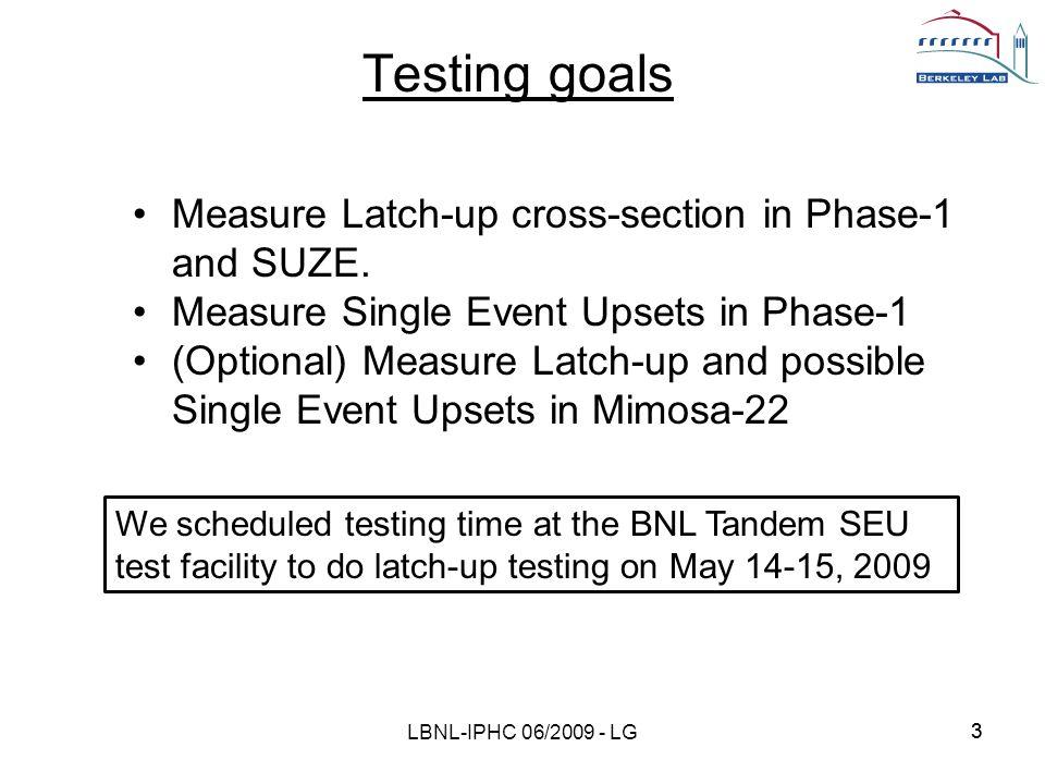 14 end LBNL-IPHC 06/2009 - LG