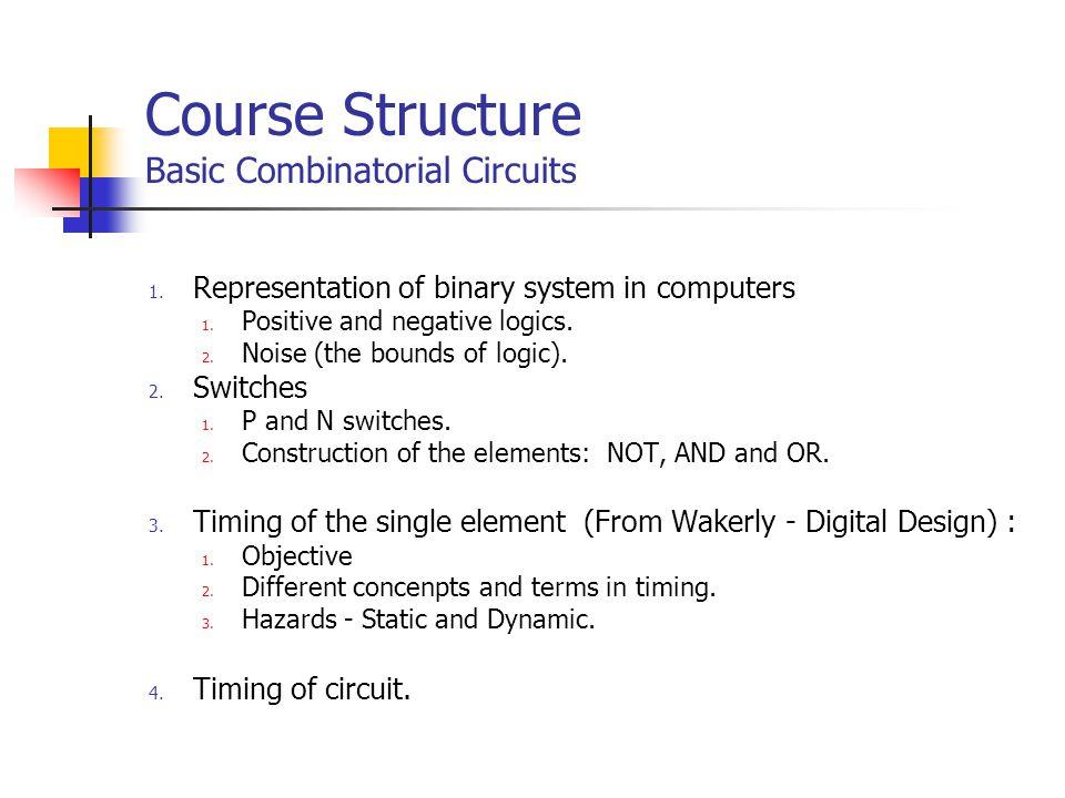 Course Structure Advanced Combinatorical Circuites 1.