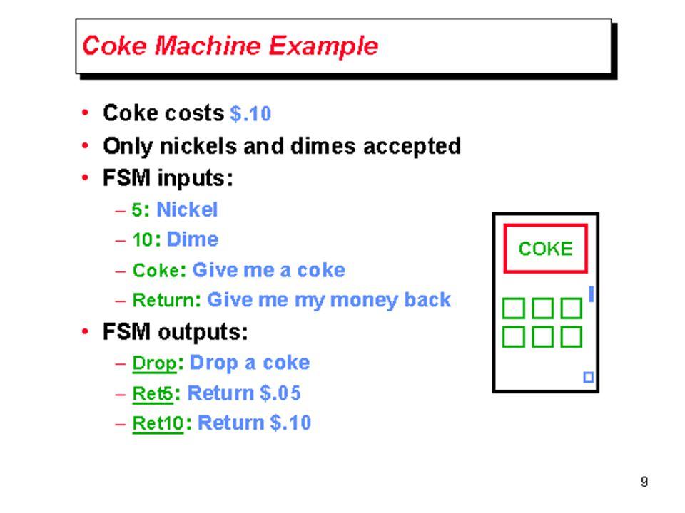 CWRU EECS 317 Coke Machine Example