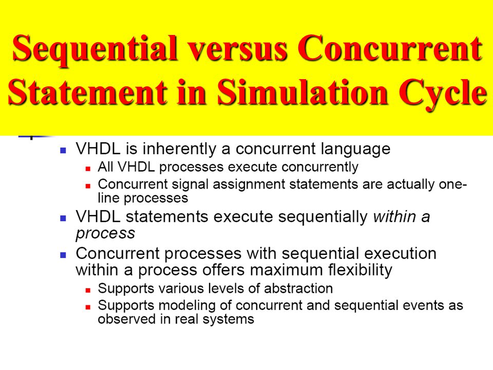 Sequential versus Concurrent Statement in Simulation Cycle