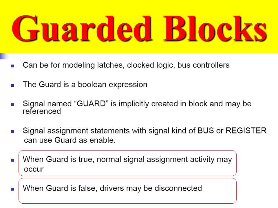 Guarded Blocks