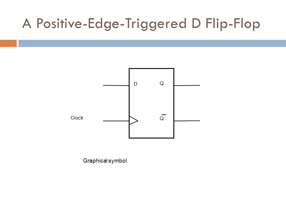 D Q Q Graphical symbol Clock A Positive-Edge-Triggered D Flip-Flop