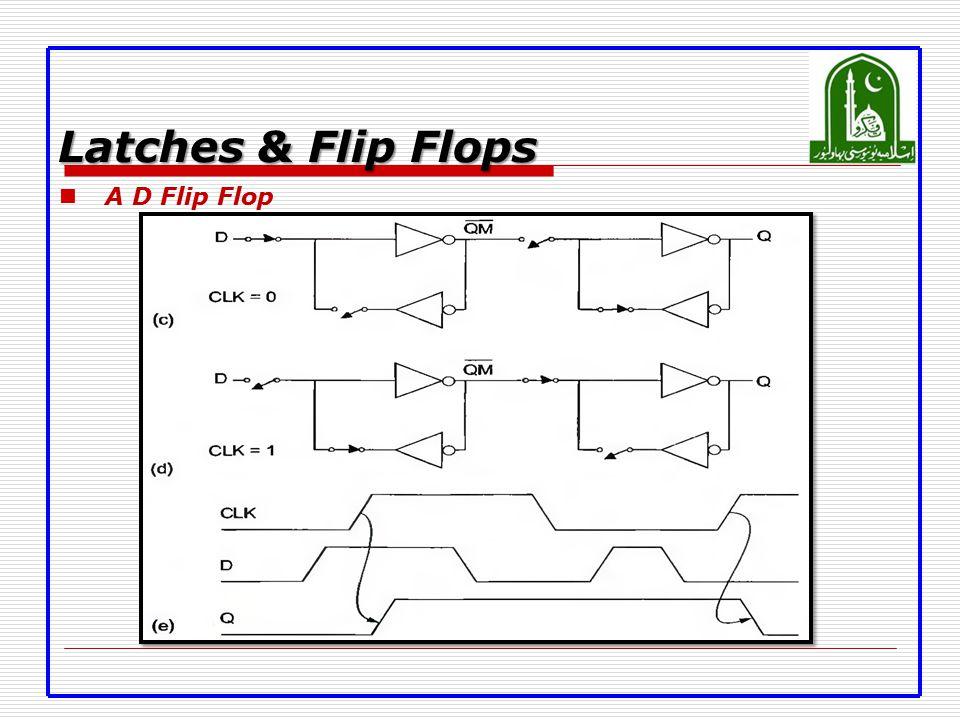 Latches & Flip Flops A D Flip Flop