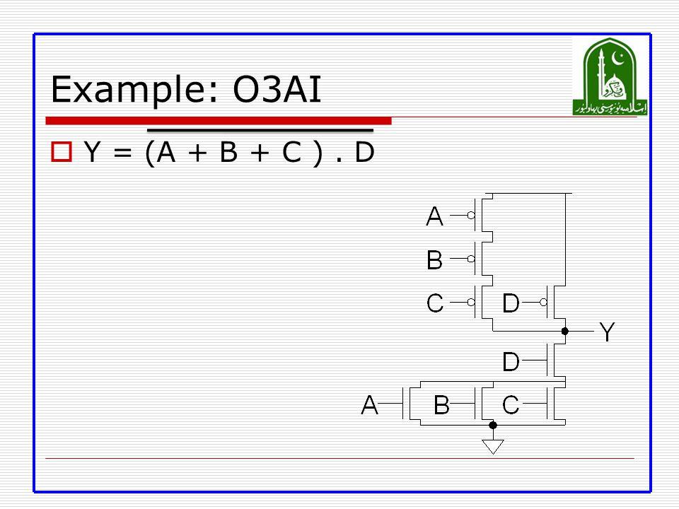 Example: O3AI  Y = (A + B + C ). D
