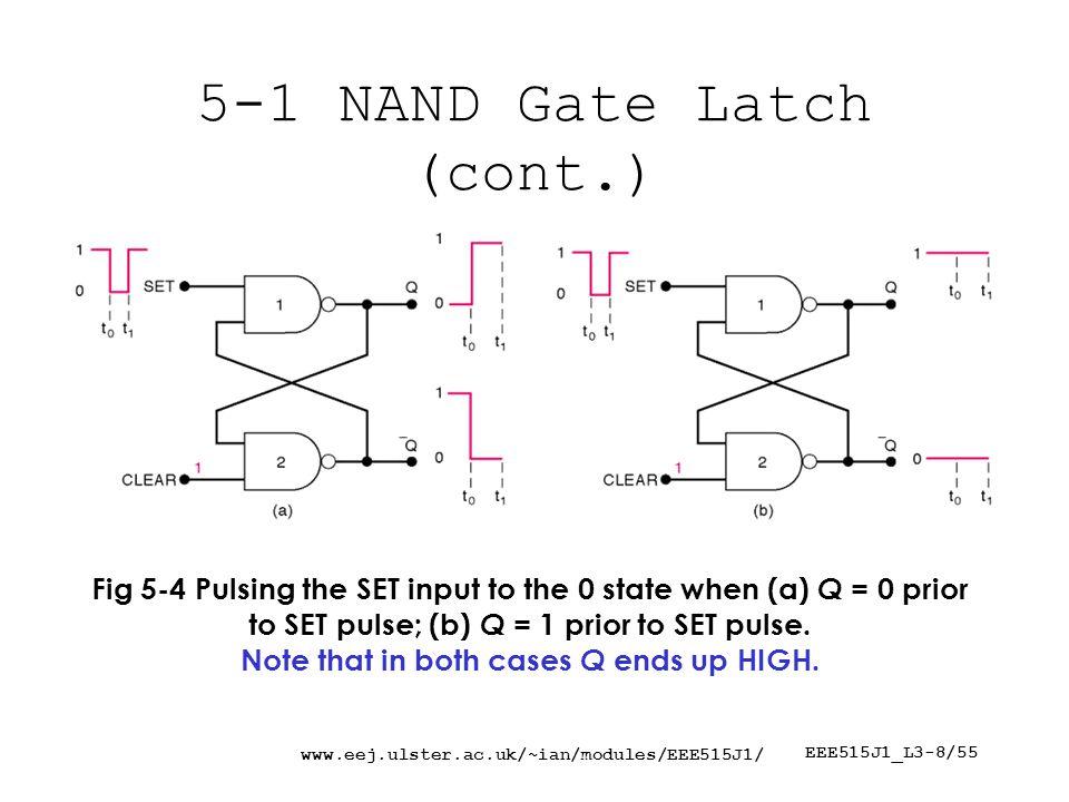 www.eej.ulster.ac.uk/~ian/modules/EEE515J1/ EEE515J1_L3-19/55 5-6 Clocked J-K FF Fig 5-23 Internal circuitry of the edge-triggered J-K flip-flop.