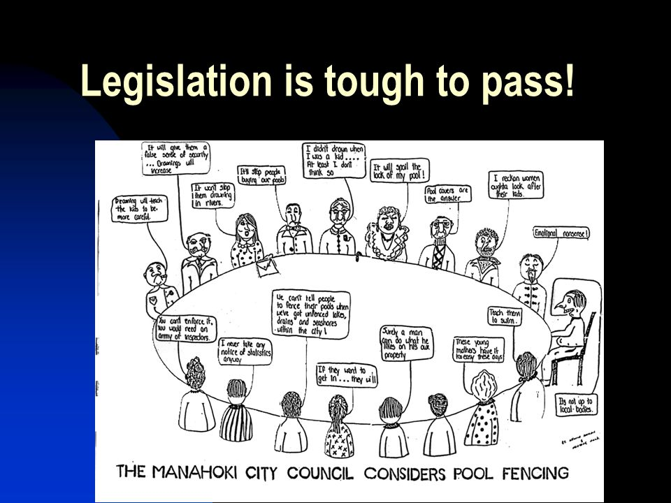 Legislation is tough to pass!