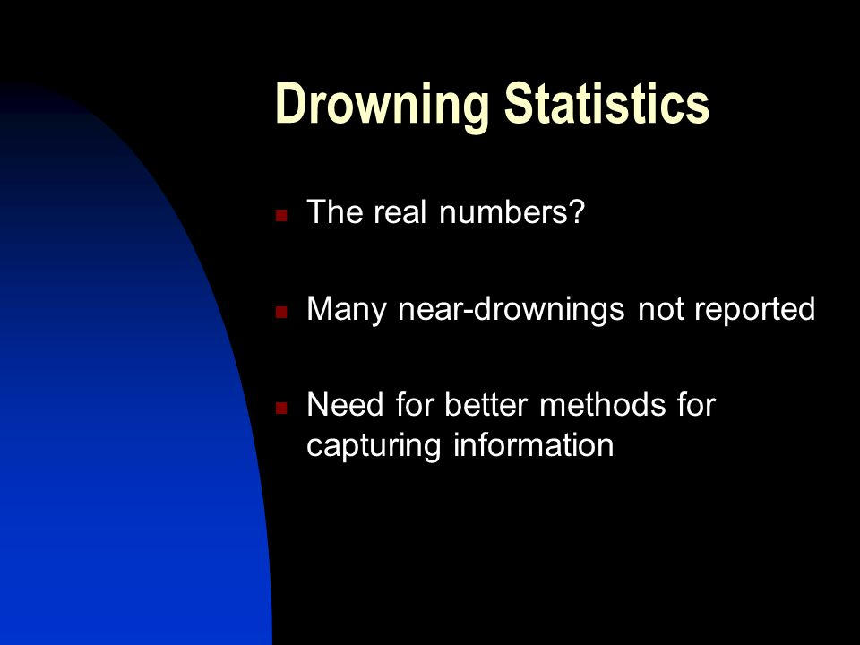 Drowning Statistics The real numbers.