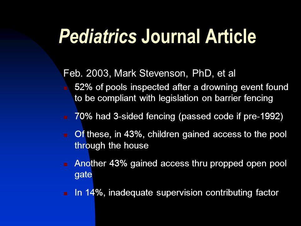 Pediatrics Journal Article Feb.