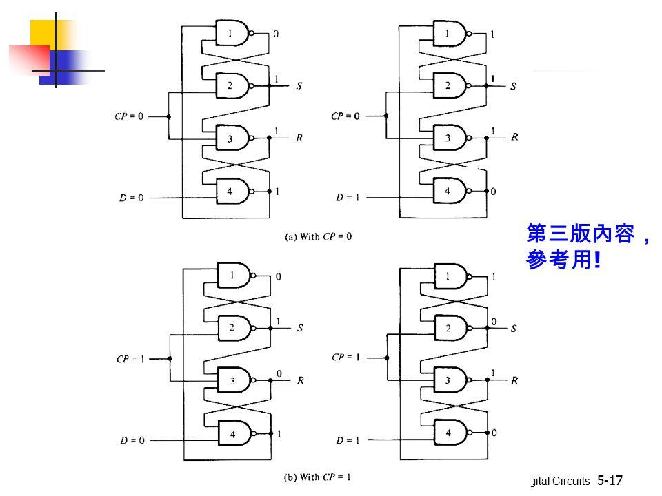 Digital Circuits 5-17 第三版內容, 參考用 !