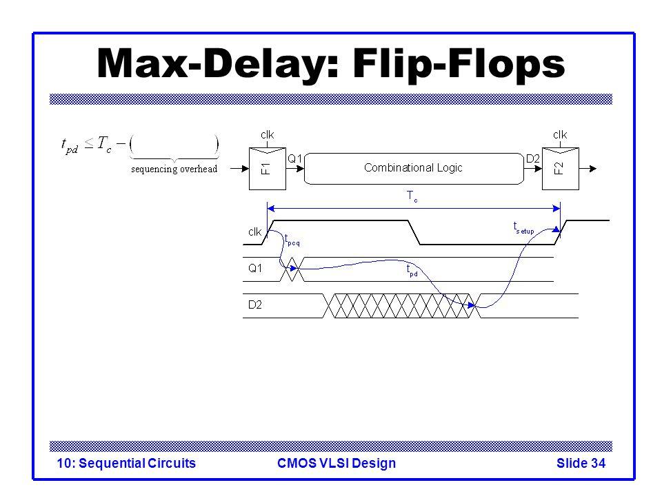 CMOS VLSI Design10: Sequential CircuitsSlide 34 Max-Delay: Flip-Flops